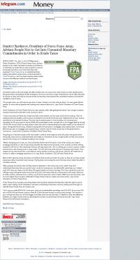 Dmitri Chavkerov -  Worcester Telegram & Gazette - Paying Taxes and Saving