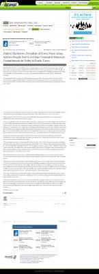 Dmitri Chavkerov -  eZanga - Paying Taxes and Saving