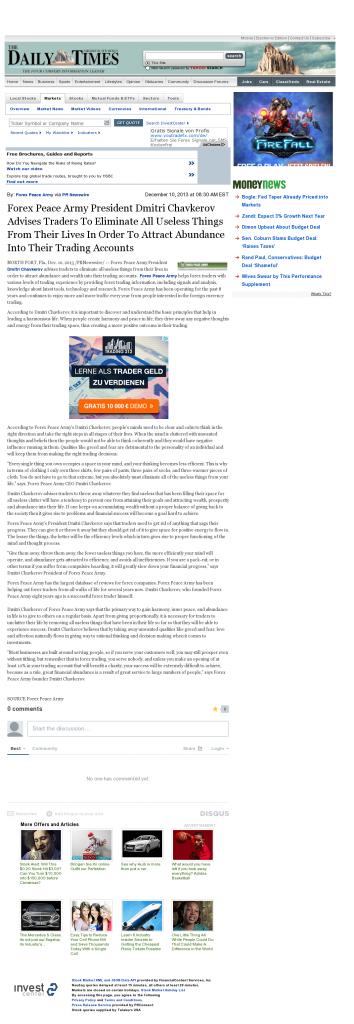 Forex Peace Army - Farmington Daily Times (Farmington, NM)- Attracting Wealth