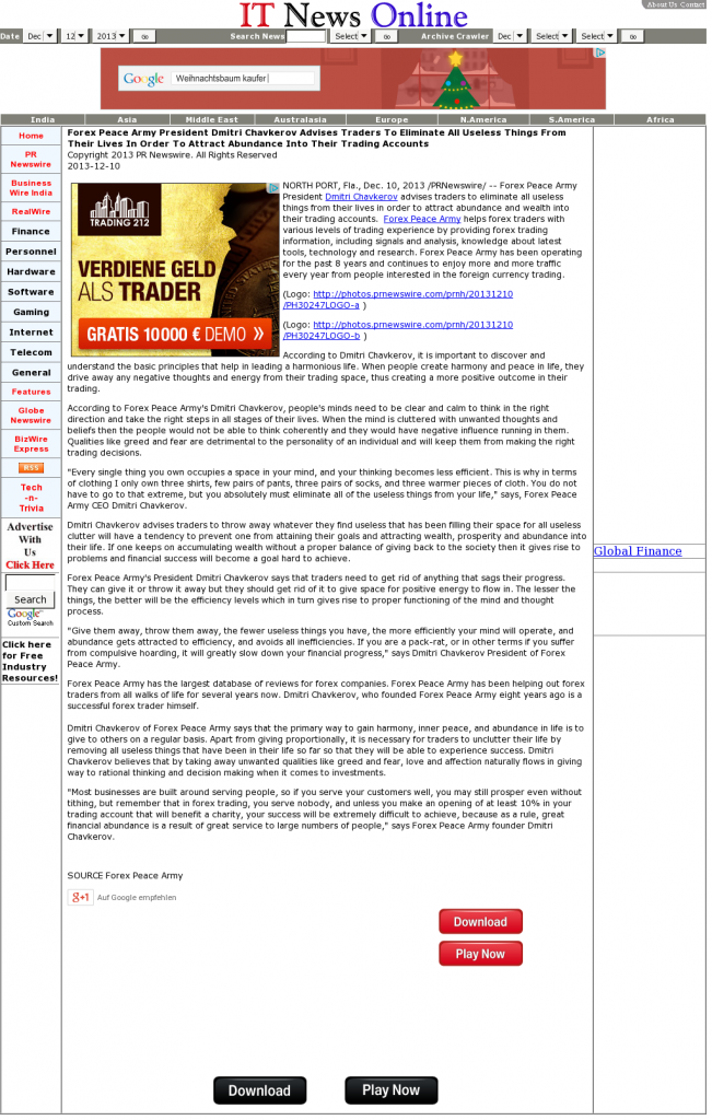 Forex Peace Army - IT News Online- Attracting Wealth