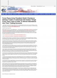 Forex Peace Army -  KATV-TV ABC-7 (Little Rock, AR) - Attracting Wealth
