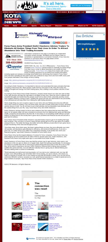 Forex Peace Army - KDUH-TV ABC-3 (Scottsbluff, NE)- Attracting Wealth