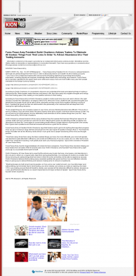 Forex Peace Army -  KION CBS-46 (Salinas, CA) - Attracting Wealth