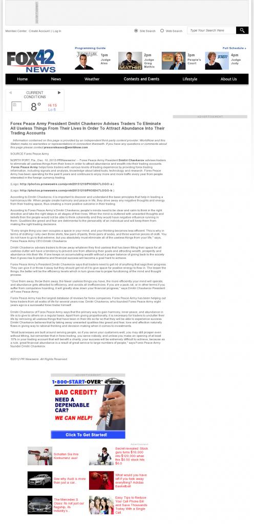 Forex Peace Army - KPTM-TV FOX-42 (Omaha, NE)- Attracting Wealth