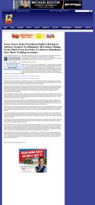 Forex Peace Army -  KSLA CBS-12 (Shreveport, LA) - Attracting Wealth