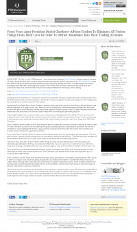 Forex Peace Army -  PR Newswire - Attracting Wealth
