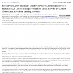 Forex Peace Army | Abundance and Wealth Attraction through Live Clean up – Tip in Redlands Daily Facts (Redlands, CA)