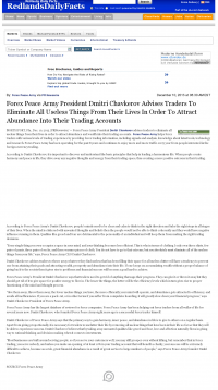 Forex Peace Army -  Redlands Daily Facts (Redlands, CA) - Attracting Wealth