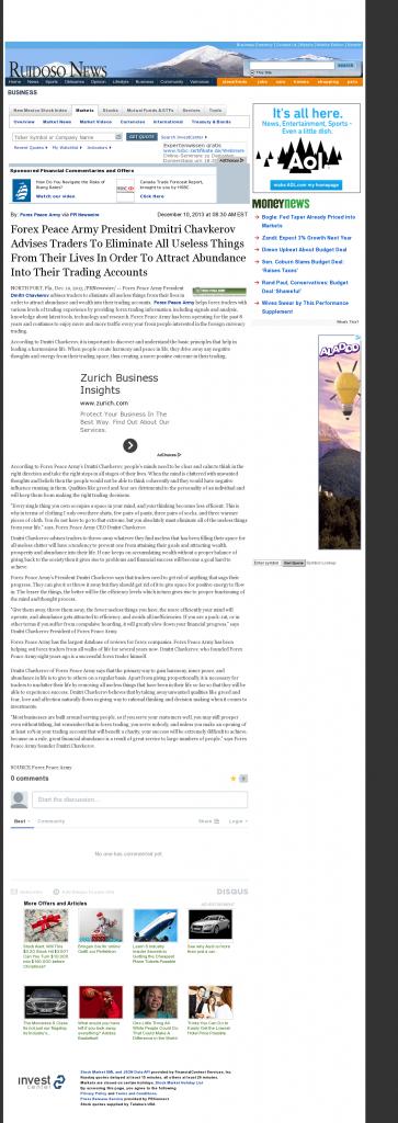 Forex Peace Army - Ruidoso News (Ruidoso, NM)- Attracting Wealth