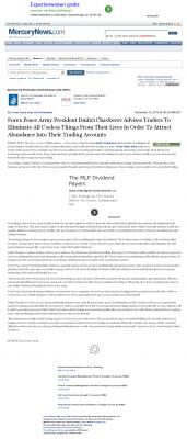 Forex Peace Army -  San Jose Mercury News - Attracting Wealth