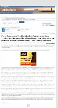 Forex Peace Army -  Santa Cruz Sentinel (Santa Cruz, CA) - Attracting Wealth