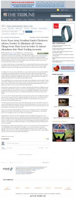Forex Peace Army -  Tribune (San Luis Obispo, CA) - Attracting Wealth