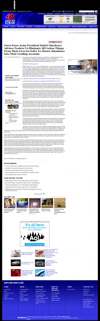Forex Peace Army - WAFF NBC-48 (Huntsville, AL)- Attracting Wealth