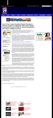 Forex Peace Army -  WFLX FOX-29 (West Palm Beach, FL) - Attracting Wealth