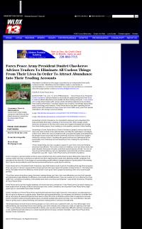 Forex Peace Army -  WLOX ABC-13 (Biloxi, MS) - Attracting Wealth