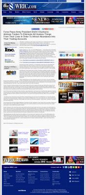 Forex Peace Army -  WRIC ABC-8 (Richmond, VA) - Attracting Wealth