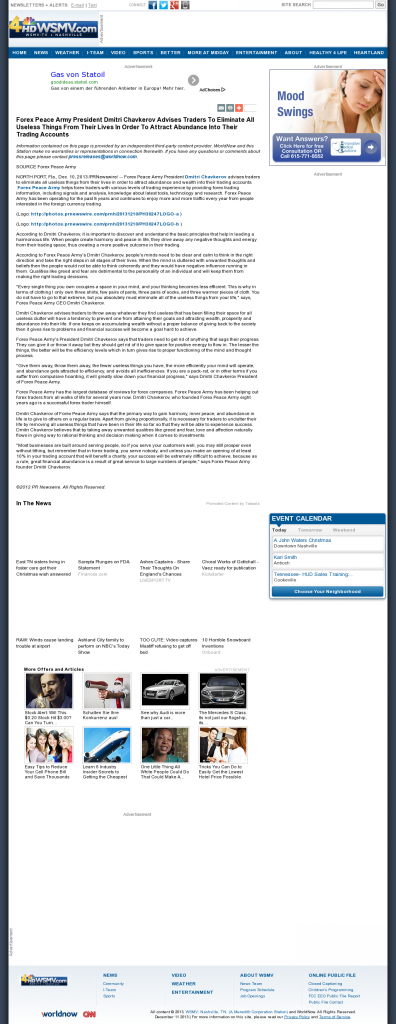 Forex Peace Army - WSMV-TV NBC-4 (Nashville, TN)- Attracting Wealth