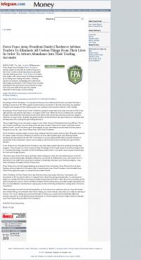 Forex Peace Army -  Worcester Telegram & Gazette - Attracting Wealth